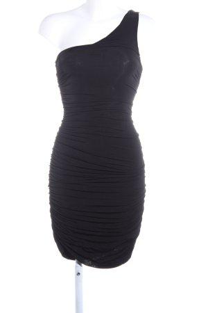 H&M Vestido de un hombro negro estilo extravagante