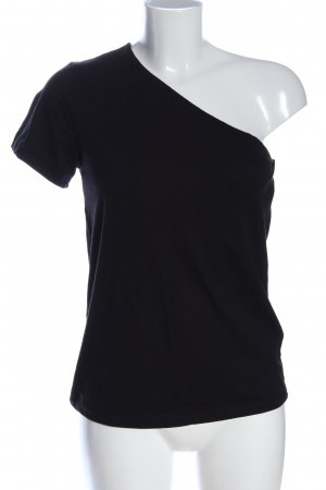 H&M One-Shoulder-Shirt schwarz Casual-Look