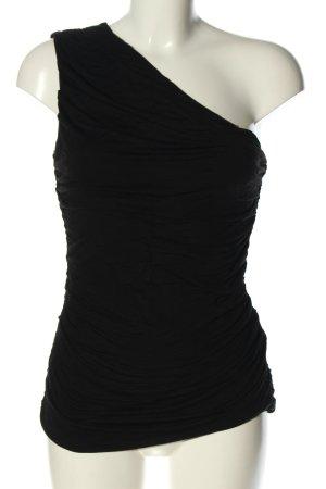 H&M Top asymétrique noir style décontracté