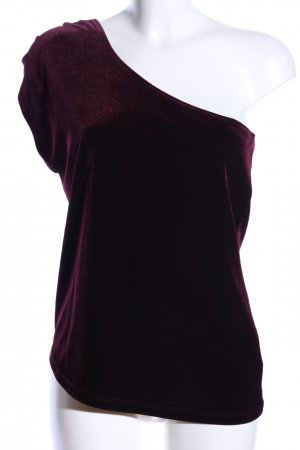 H&M One-Shoulder-Shirt rot Casual-Look