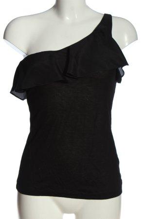 H&M Koszulka na jedno ramię czarny W stylu casual