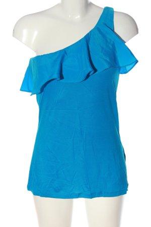 H&M One-Shoulder-Top blau Casual-Look