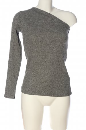 H&M Top monospalla grigio chiaro puntinato stile casual