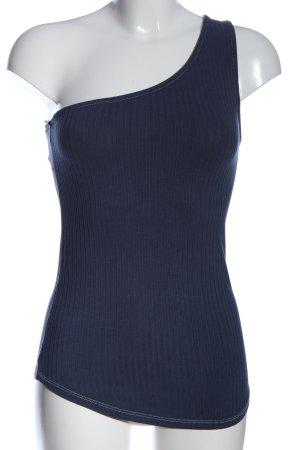 H&M Haut avec une épaule dénudée bleu style décontracté