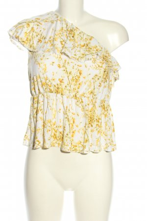H&M One Shoulder Top white-primrose allover print casual look