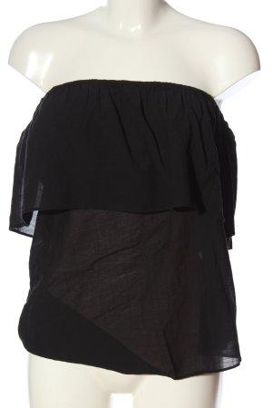 H&M Bandeau top zwart casual uitstraling