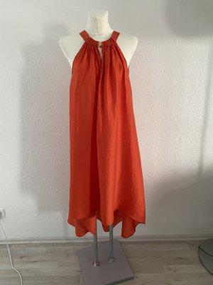 H&M Orange Conscious 40 Maxikleid Neckholder Kleid Sommerkleid