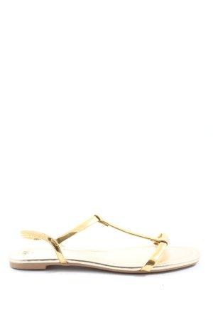 H&M Sandały outdoor złoto Z połyskiem