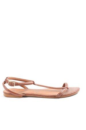 H&M Sandalias para uso en exteriores marrón look casual