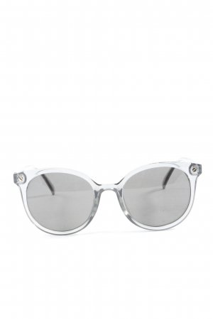 H&M Occhiale da sole ovale grigio chiaro stile casual