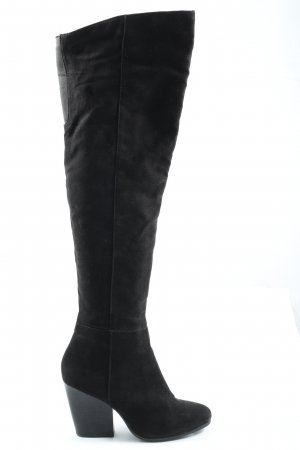 H&M Buty nad kolano czarny W stylu casual