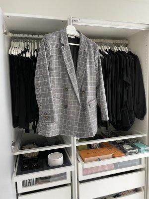 H&M Klassischer Blazer zwart-grijs