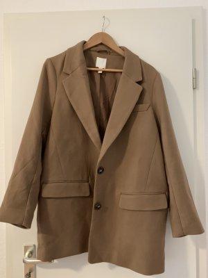 H&M Sweat Blazer light brown-bronze-colored polyester
