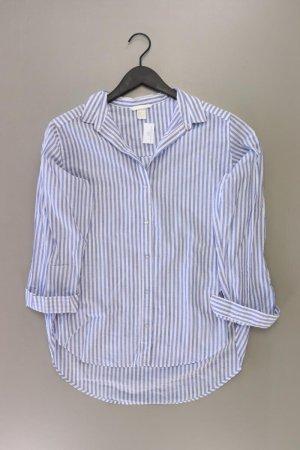 H&M Oversize-Bluse Größe 36 gestreift 3/4 Ärmel blau aus Baumwolle