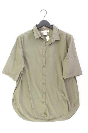 H&M Bluzka oversize oliwkowy Bawełna
