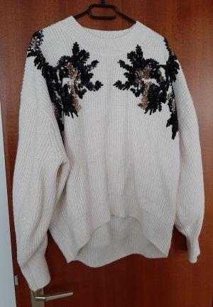 H&M Oversize Pullover Pulli Strick Grobstrick Pailletten