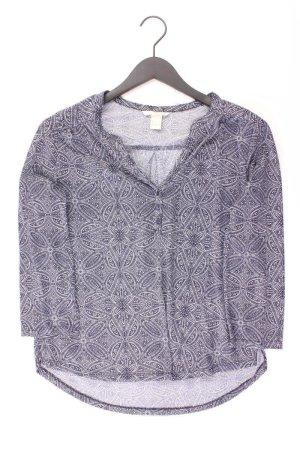 H&M Oversize-Shirt Größe S geometrisches Muster blau aus Polyester