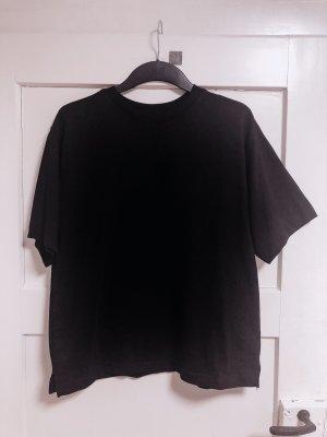 H&M Oversize Shirt / Schwarzes dickes Basic Shirt