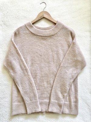 H&M Oversize Turtleneck Strick Knit Pulli beige nude Gr. S