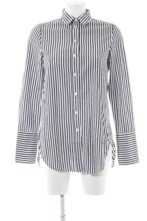 H&M Oversized Bluse weiß-schwarz Streifenmuster Business-Look