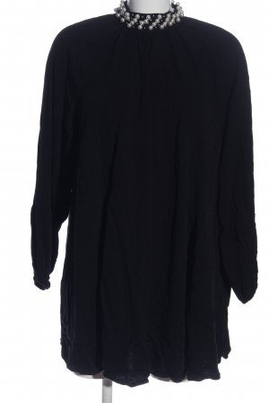 H&M Oversized Bluse schwarz Casual-Look