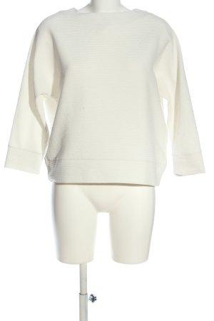 H&M Blouse oversized blanc motif rayé style décontracté