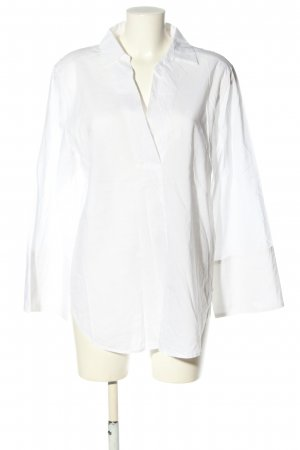 H&M Oversized Bluse weiß Casual-Look