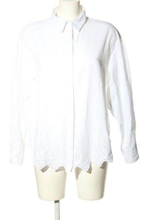 H&M Blouse oversized blanc style décontracté