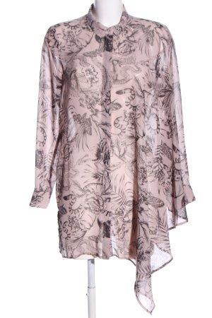H&M Bluzka oversize różowy-czarny Łączone wzory W stylu biznesowym