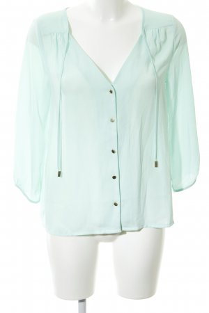H&M Oversized Bluse türkis Business-Look