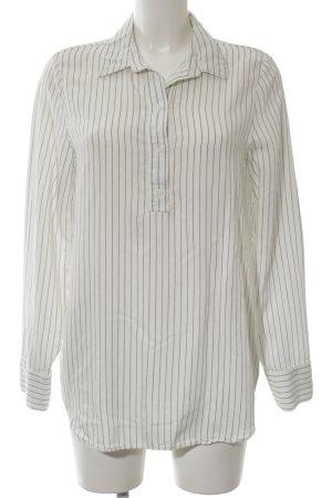 H&M Oversized Bluse weiß Streifenmuster klassischer Stil