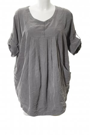 H&M Oversized Bluse hellgrau Casual-Look