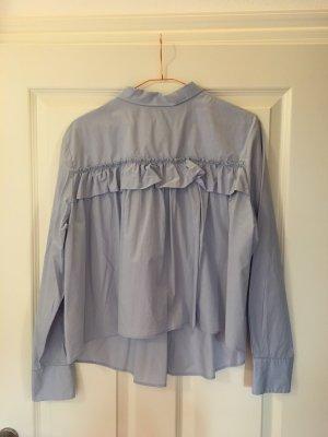 H&M Oversized Bluse mit Rüschenkante am Rücken