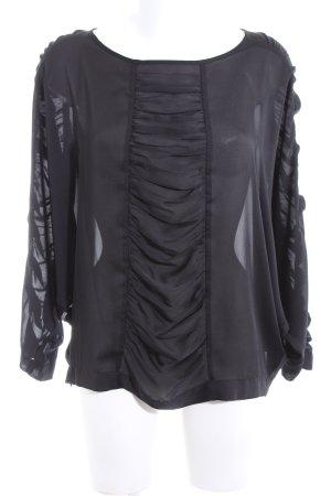 H&M Oversized Bluse schwarz Business-Look