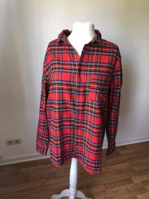 H&M Koszula w kratę czerwony-czarny