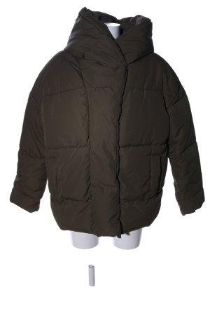 H&M Oversized Jacke khaki Steppmuster Casual-Look