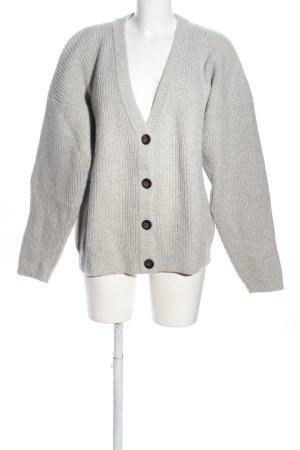 H&M Oversized Jacke hellgrau Casual-Look