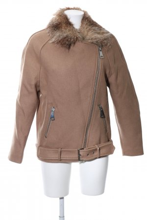 H&M Oversized Jacke beige Street-Fashion-Look
