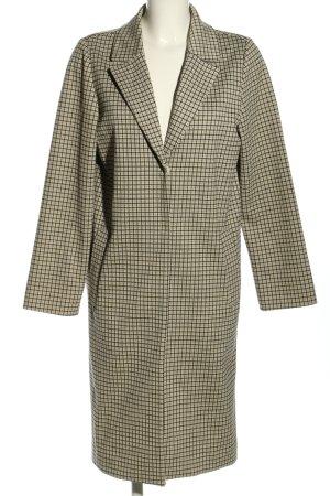 H&M Oversized jas wolwit-zwart geruite print casual uitstraling