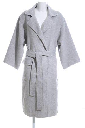H&M Abrigo ancho gris claro moteado estilo «business»