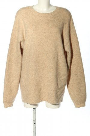 H&M Oversized Sweater cream flecked casual look