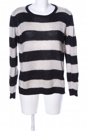 H&M Oversized Sweater natural white-black allover print casual look