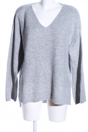 H&M Oversized Pullover hellgrau meliert Casual-Look