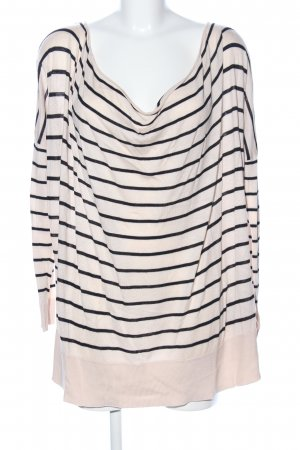 H&M Oversized Sweater cream-black striped pattern casual look