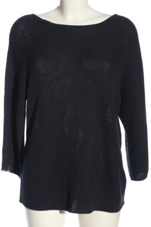 H&M Sweter oversize czarny Warkoczowy wzór W stylu casual