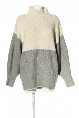 H&M Oversized Pullover hellgrau-creme meliert Casual-Look