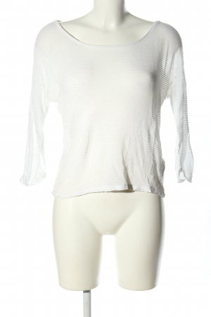 H&M Oversized Pullover weiß Streifenmuster Casual-Look