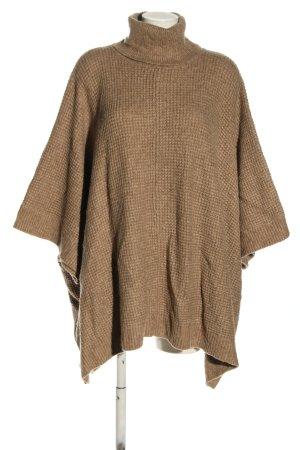 H&M Poncho bronzefarben Zopfmuster Casual-Look