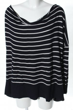 H&M Oversized Sweater black-white striped pattern casual look