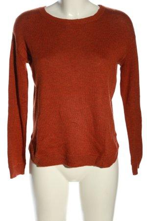H&M Oversized Pullover hellorange meliert Casual-Look